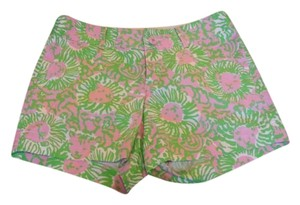 Lilly Pulitzer Mini/Short Shorts Green and Pink