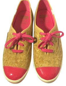 Kate Spade Cork and hot pink Athletic