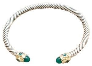 David Yurman David Yurman Faceted Green Onyx, Chrome Diopside and Hampton Blue Topaz