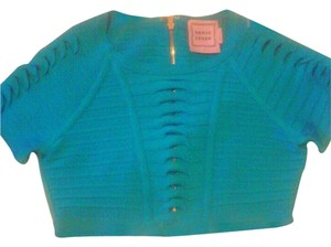 Hervé Leger Crop Bandage Party Top blue