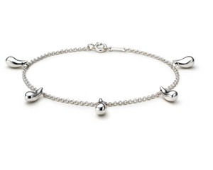 Tiffany & Co. Sterling Silver Elsa Peretti Teardrops Bracelet