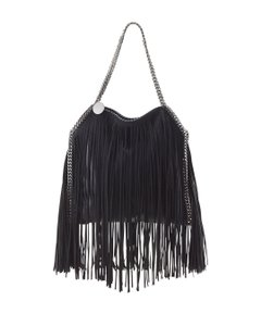 Stella McCartney Fringe Chain Tote in Black