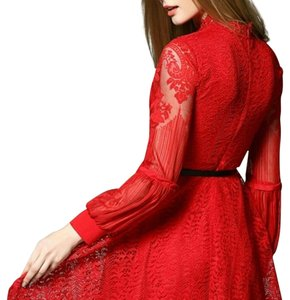 Other Red Fit Flare Christmas Skater Dress