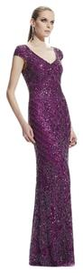 Theia Beaded Gown V-neck Formal Dress