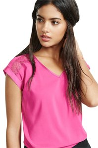 Express Work Bright Top Bright Pink