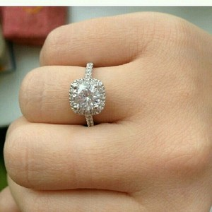 925 Crystal Silver Ring Diamond Cz Sterling Size 6 7 8 9