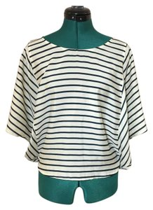 Forever 21 Pinstripe Comfortable Summer Top Blue and White Stripe
