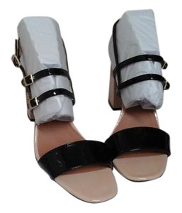 Calvin Klein Black and Beige Sandals