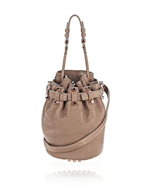 Item - Small Diego In with Rose Gold Latte Pebbled Leather Shoulder Bag