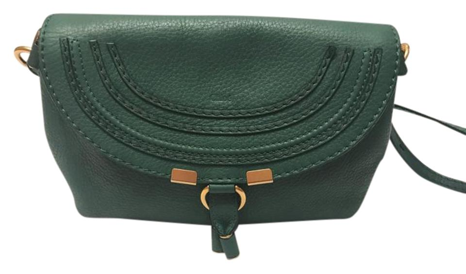 f0017ee11c Chloé Marcie Small Mini Pochette Green Leather Cross Body Bag - Tradesy