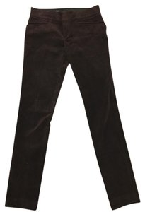 Gucci Classic Holiday Velvet Vintage Straight Pants Brown