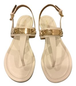 Coach Thongs Leather White Sandals