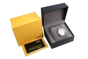 Fendi Fendi Rose Gold Selleria Pearl Watch Case New