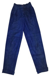 Complice Vintage Leather Baggy Pants Royal Blue