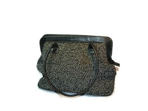The Sak Satchel in Black and White Tweed