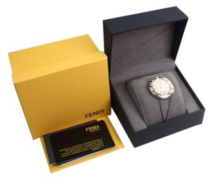Fendi Fendi Yellow Gold Selleria Pearl Watch Case New