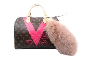 Louis Vuitton Louis Vuitton Foxy Pink Fur Bag Charm New