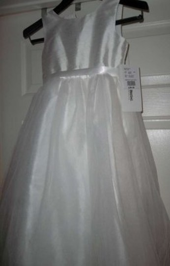 David's Bridal True White Flower Girl Dress: Cinderella-inspired