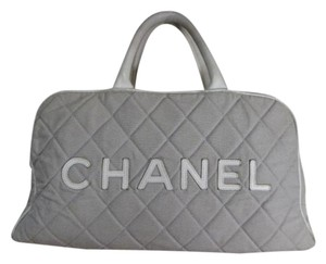 Chanel Duffle Boston Satchel in Grey