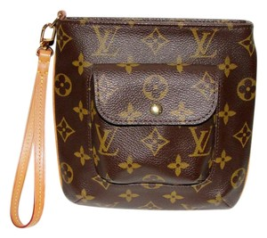 Louis Vuitton Pochette Wallet Wristlet in Brown