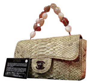 Chanel Stone Exotic Limited Edition Runway Satchel in BROWN