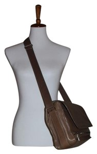 CoSTUME NATIONAL Messenger Leather Medium Size Men's Crossbody Taupe Messenger Bag