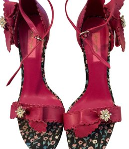 Betsey Johnson Pink floral Sandals