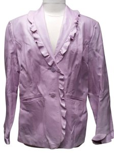 Terry Lewis Classic Luxuries Vintage Leather Lilac Leather Jacket