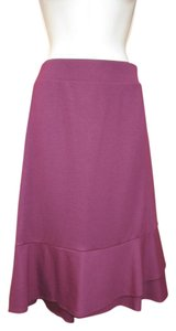 Lands' End Ponte Plus-size Skirt Berry
