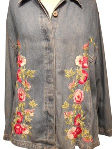 Studio West Studio West-Embroidered Denim Shirt & Pant-LIB5
