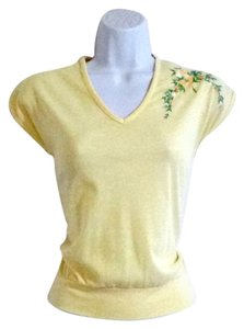 Other 1970s 70s Vintage Pastel Hippie Top Yellow