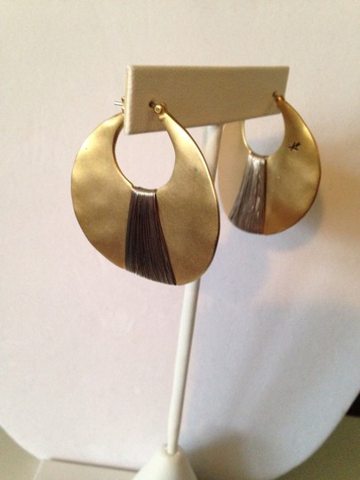 Kenneth Cole Gold-Tone Shell Drop Hoop Image 1