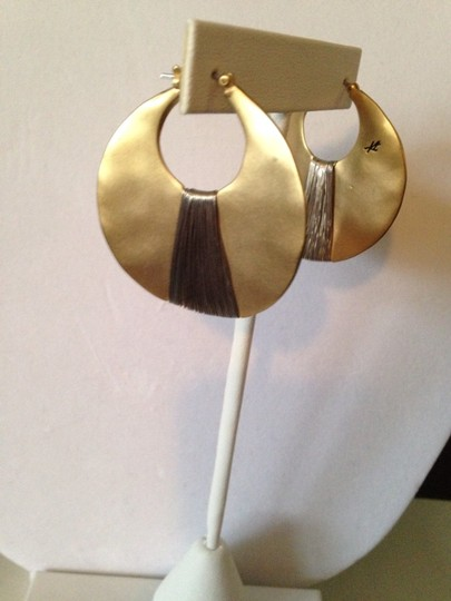 Kenneth Cole Gold-Tone Shell Drop Hoop Image 2