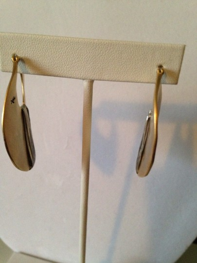 Kenneth Cole Gold-Tone Shell Drop Hoop Image 3