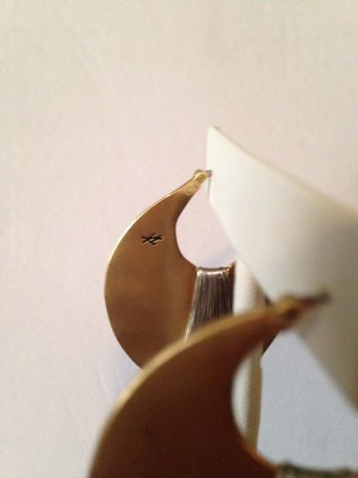 Kenneth Cole Gold-Tone Shell Drop Hoop Image 5