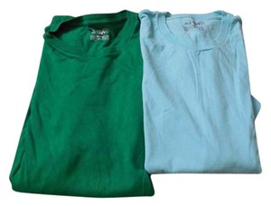 Old Navy Plus-size Mens Size Short Sleeves Crew Neck 2 T Shirt Aqua and Green