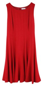 Maxi Dress by Calvin Klein Sleeveless Pleated A-line