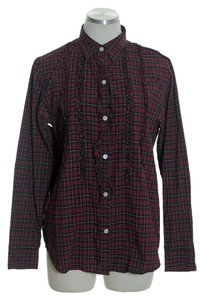 Lauren Ralph Lauren Button Down Shirt Red Multi