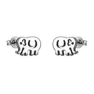 Other Stainless Steel Elephant Earrings Studs Kids Children 8mm On Sale