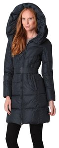 Add Down Goose Hooded Belted Coat