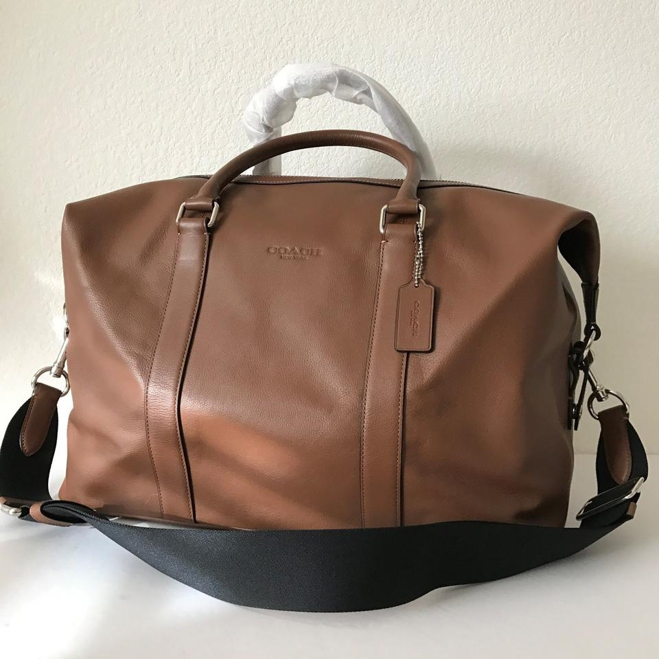 8ce77149a Coach Explorer Duffle F93471: Msrp Saddle Leather Weekend/Travel Bag ...