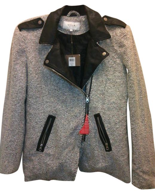 Preload https://img-static.tradesy.com/item/20160566/vila-gray-and-black-winter-blazer-by-clothes-leather-collar-trim-activewear-jacket-size-16-xl-plus-0-0-1-650-650.jpg