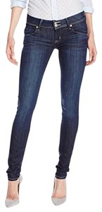 Hudson Jeans Denim Long Inseam Skinny Jeans-Dark Rinse