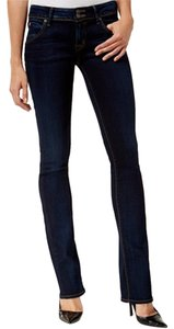 Hudson Jeans Comfortable Denim Inseam Long Boot Cut Jeans-Dark Rinse