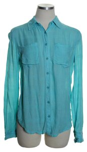 Aéropostale Button Down Shirt Blue