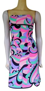 Tibi short dress Multi-colored Strapless Boned Pucciesque on Tradesy