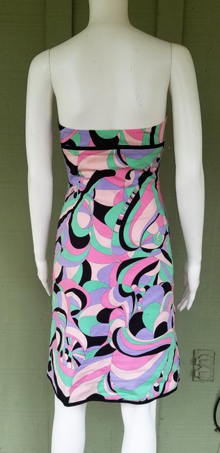 Tibi short dress Multi-colored Strapless Boned Pucciesque Cotton Blend on Tradesy Image 3