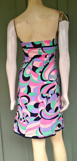 Tibi short dress Multi-colored Strapless Boned Pucciesque Cotton Blend on Tradesy