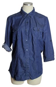Apt. 9 Button Down Shirt Blue