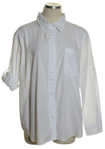 Basic Editions Button Down Shirt White